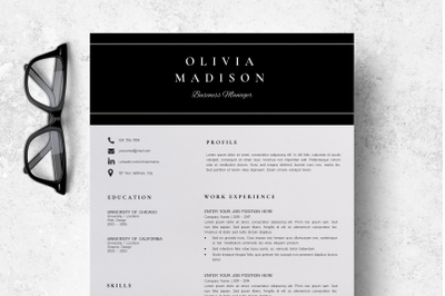 Resume Instant Download / Creative Resume Ideas - Olivia