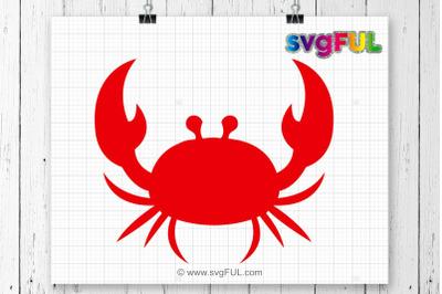 Crab Svg, Crab Monogram Svg, Svg Files, Crab, Svg, Silhouette Cut File