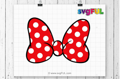 Polka Dot Bow Svg