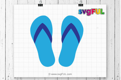 Flip Flop Svg, Summer Svg, Svg Files, Monogram Frames, Cricut Cutting Files, Silhouette Cutting Files