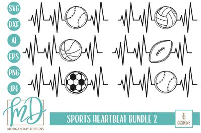 Sports Heartbeat SVG Bundle 2