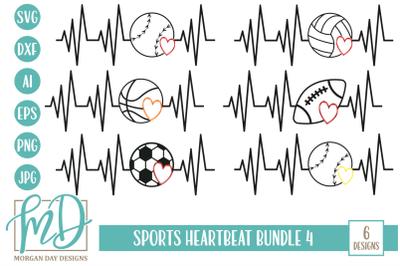 Sports Heartbeat SVG Bundle 4