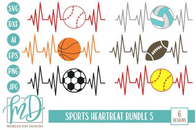 Sports Heartbeat SVG Bundle 5