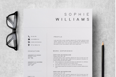 New CV Template / Professional CV Design - Sophie