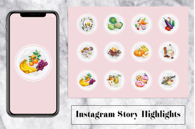 Food Instagram Story Icons