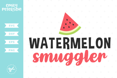 Watermelon Smuggler SVG DXF
