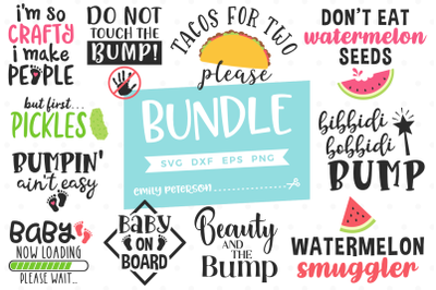 Pregnancy Bundle SVG DXF - 11 Designs