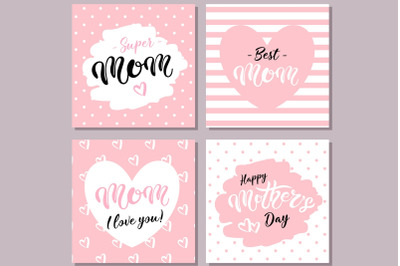 Happy Mother's Day Cards. Pink