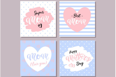 Happy Mother's Day Cards. Blue