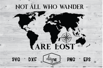 Not All Who Wander Are Lost Map
