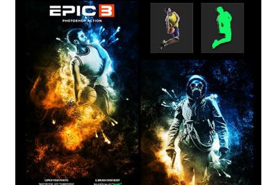 Epic 3 Photoshop Action