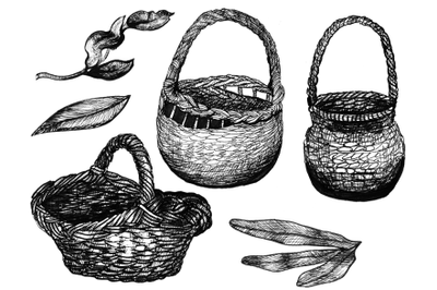 5 hand drawn easter elements