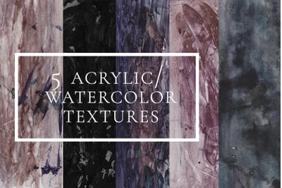 5 acrylic/ watercolor textures