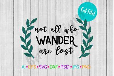 Wander SVG, Adventure SVG, SVG File, DXF File