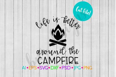 Campfire SVG, Camping SVG, SVG File, DXF