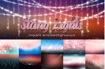 String lights clipart christmas png