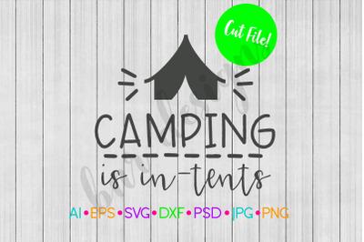 Camping SVG, Camp SVG, SVG File, DXF