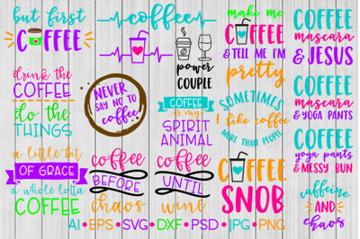 Coffee SVG Bundle, SVG File, DXF