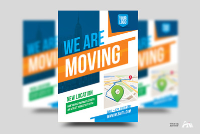 We Are Moving Flyer Template