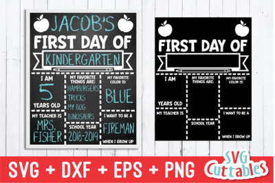 Apple First Day of School | Last Day of School | SVG Cut File