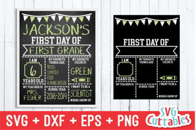 Flags First Day of School | Last Day of School | SVG Cut File