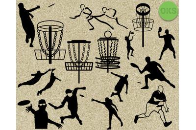 disc golf frisbee svg vector clipart download