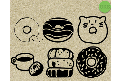 donuts svg vector clipart download