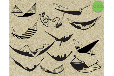 hammock svg vector clipart download