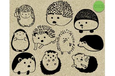 hedgehog svg vector clipart download