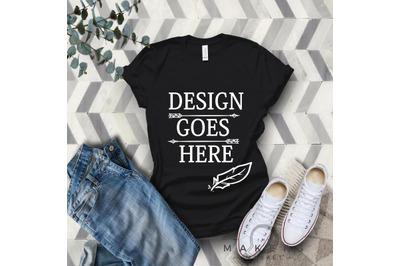 Vintage Black Adult T-Shirt/ T-Shirt Mock-up, Bella Canvas T-Shirts/ 3