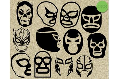 luchador mask svg vector clipart