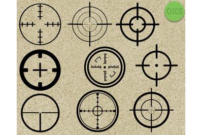sniper target svg vector clipart
