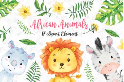 African safari Animals Set 1