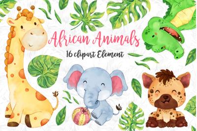 African safari Animals Set 2