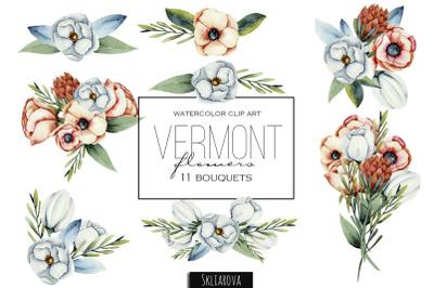 Vermont flowers. 11 bouquets.