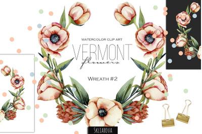 Vermont flowers. Wreath #2.