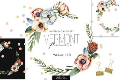 Vermont flowers. Wreath #3.