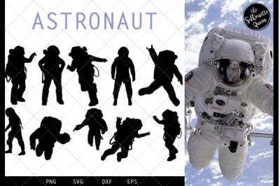 Astronaut svg file, svg cut file, silhouette studio, cricut design spa