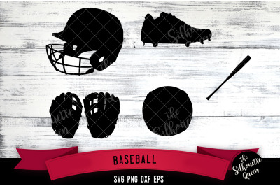 Baseball Equipment svg file, svg cut file, silhouette studio, cricut d