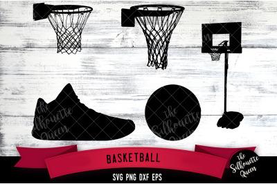 Basketball Equipment svg file, svg cut file, silhouette studio, cricut