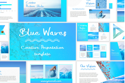 Blue Waves - PowerPoint Template