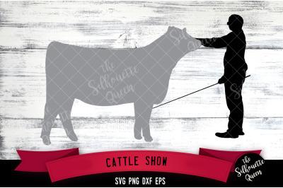 Cattle Show svg file, livestock show svg cut file, silhouette studio,