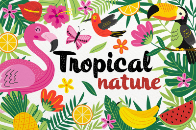 tropical nature set