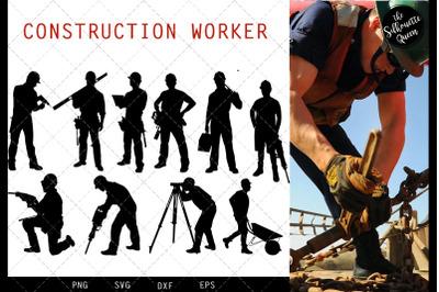Construction Workers svg file, svg cut file, silhouette studio, cricut