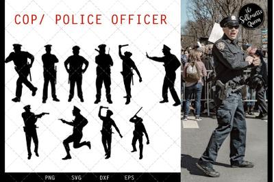 Cop svg file, police svg cut file, silhouette studio, cricut design sp