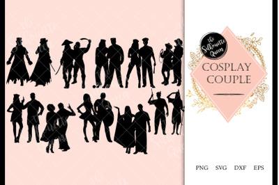 Cosplay Couples svg file, svg cut file, silhouette studio, cricut desi