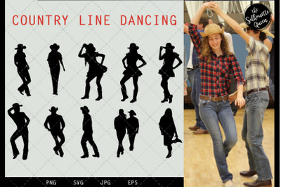 Country Line Dancing svg file, western svg cut file, silhouette studio