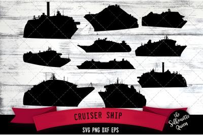 Cruiser Ship svg file, boat svg cut file, silhouette studio, cricut de