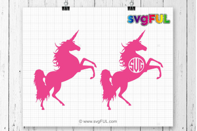 Unicorn Svg, Unicorn head Svg, Unicorn Monogram, Unicorn Clip Art, Cute Unicorn Svg, Cricut, Silhouette, Unicorn