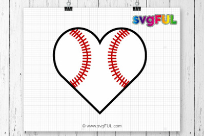 Baseball Heart Svg Baseball Mom Svg, Baseball Mom Shirts Baseball Svg Cricut Files Silhouette Files Digital Cut svg